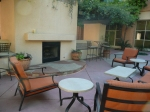 Outdoor fireplace @ Tempe Mission Palms. Would be awesome in January, not as awesome when it's 105 outside.